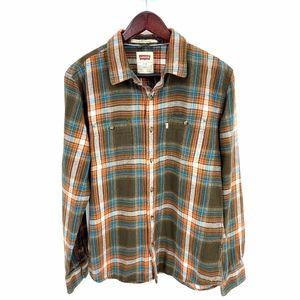 Levi Strauss Plaid Double Pocket Flannel Shirt L